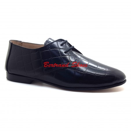 Derbies en cuir croco - Jazz