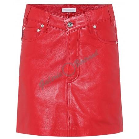 Mini-jupe en cuir - Elena