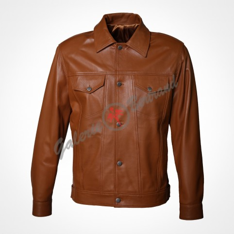 Soft lamb leather jacket