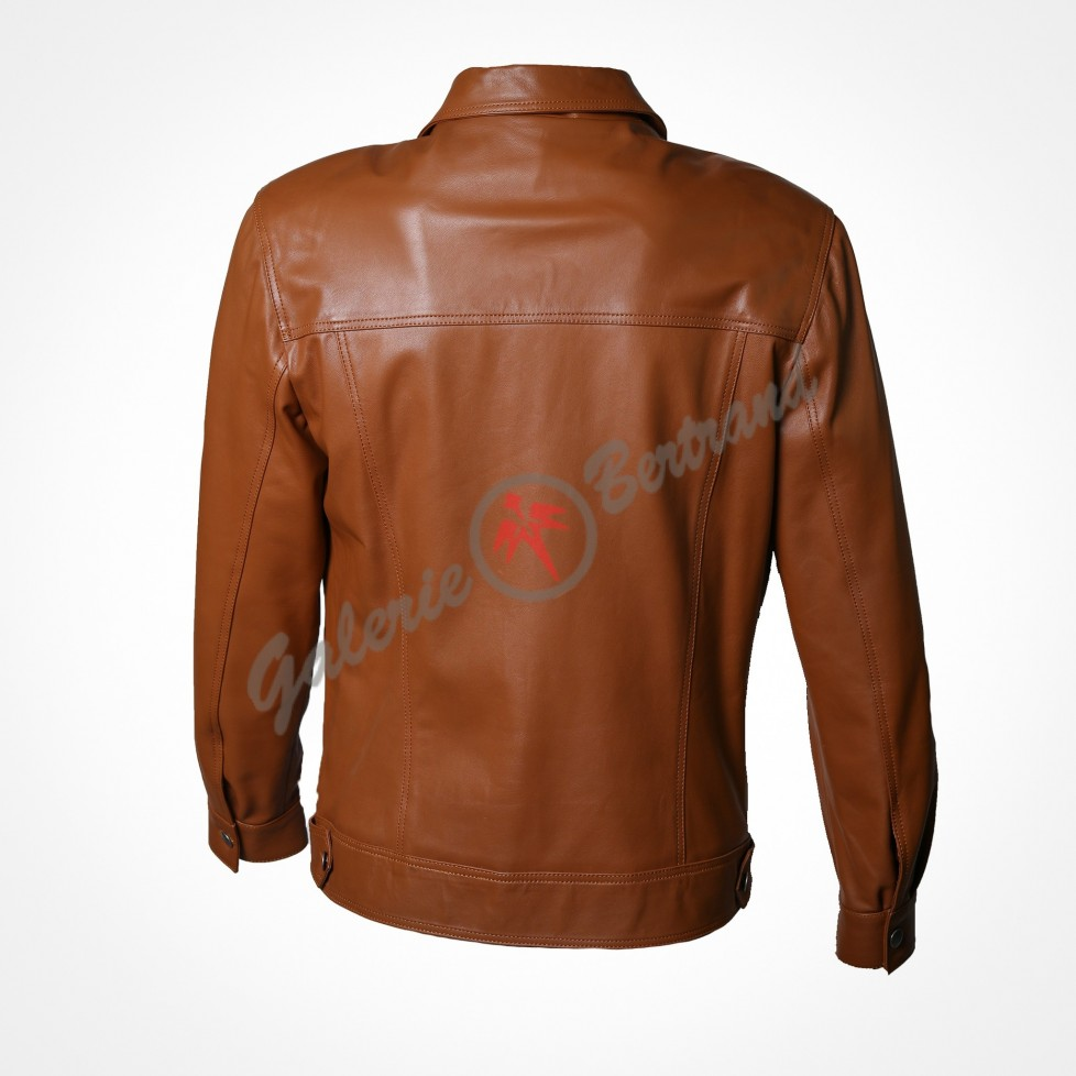 Zipped leather spencer