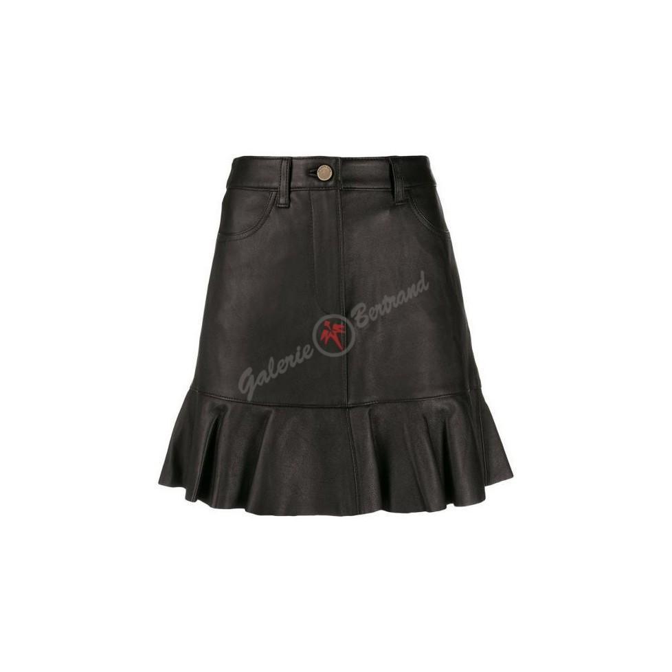 Mini-jupe en cuir - Gabriella