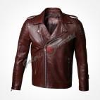 Suede coat with belt